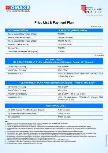 Price list Sept 2013