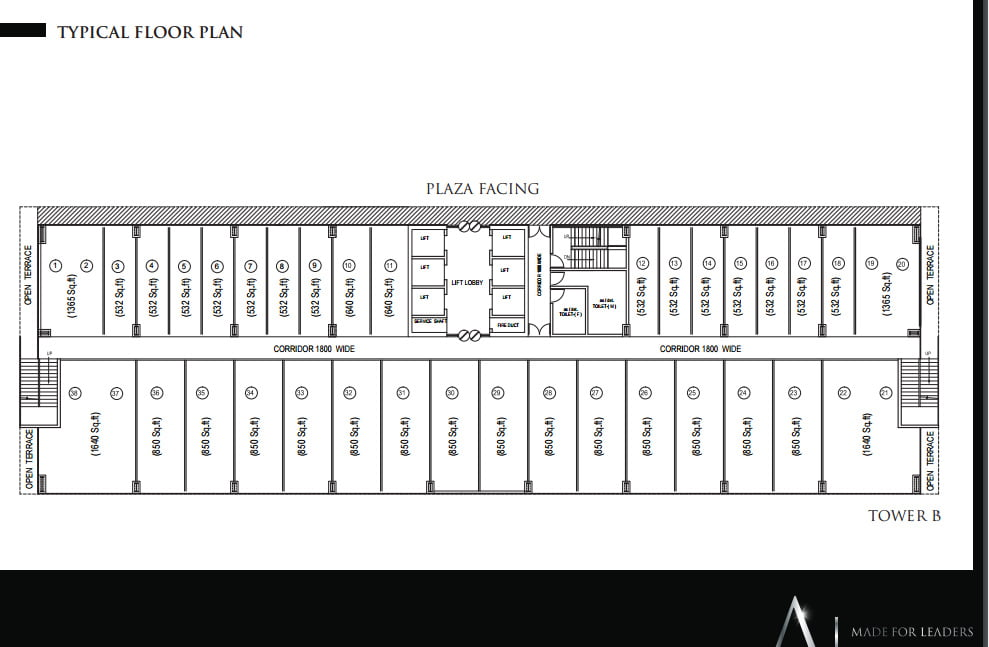 Alphathum Noida.12 percent assured returns floor plan
