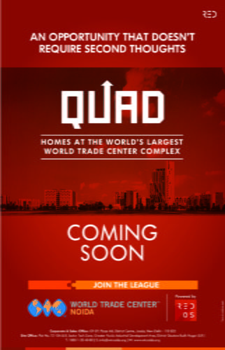 COMING SOON QUAD Residency @ WTC Noida Call us to know more at+919958959555