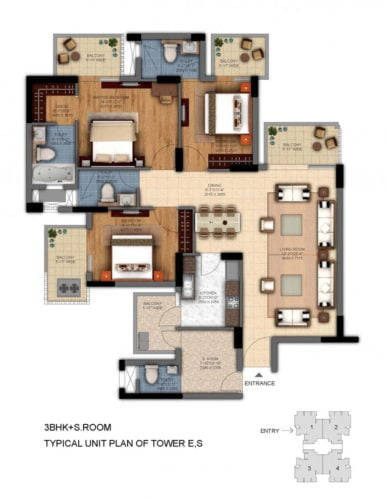 dlf ultima phase 2 3bhk floor plan