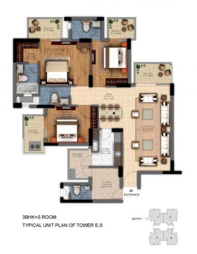 dlf ultima phase 2 3bhk floor plan