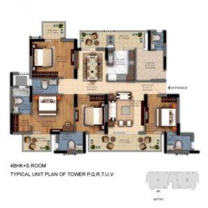 dlf ultima phase 2 4bhk floor plan