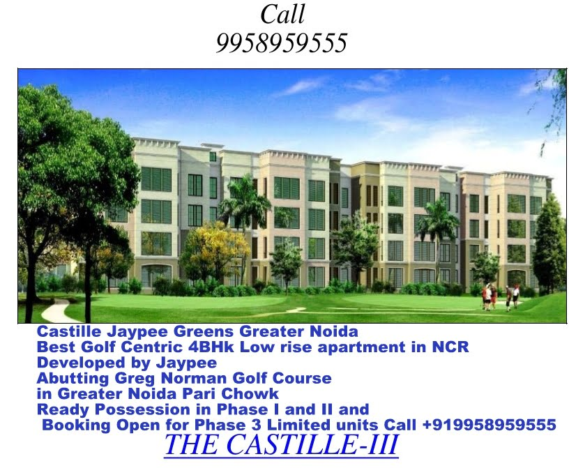 Castille Jaypee Greens Greater Noida Phase 3 Limited units Call +91995895555