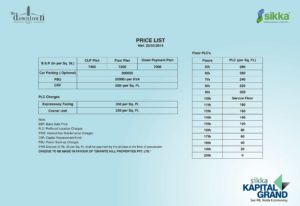 sikka kapital grand price list