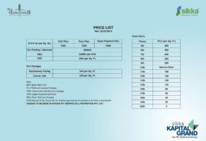 sikka kapital grand price list