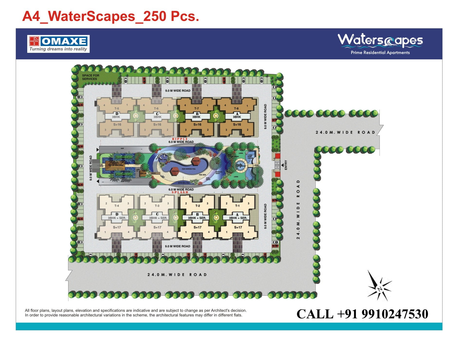omaxe waterscapes siteplan