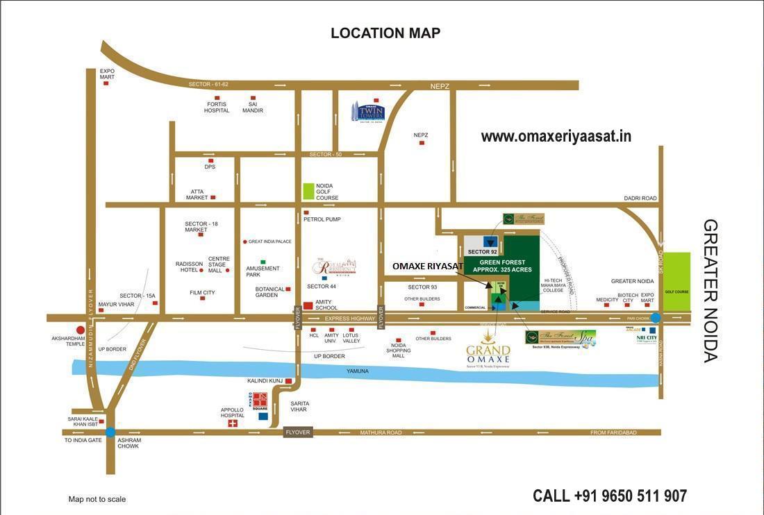 OMAXE RIYASAAT LOCATION MAP