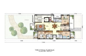 DLF PRIVANA Apartment Layout 2