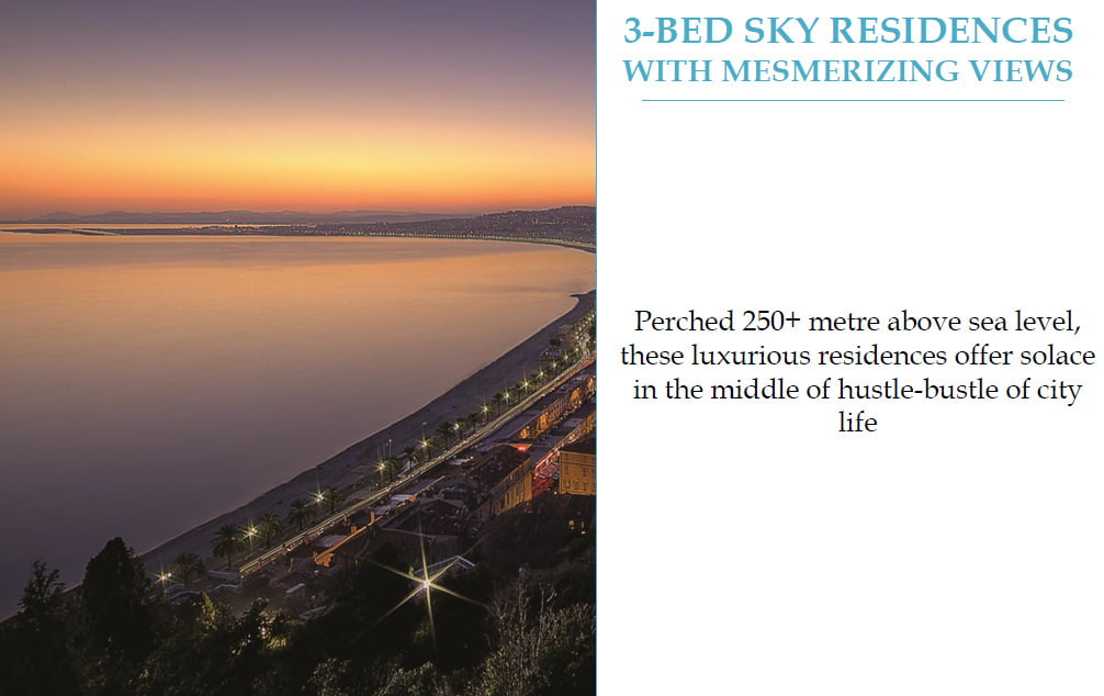 3 bed residences with sew view Lodha Codename Hidden Jewel 9958959555