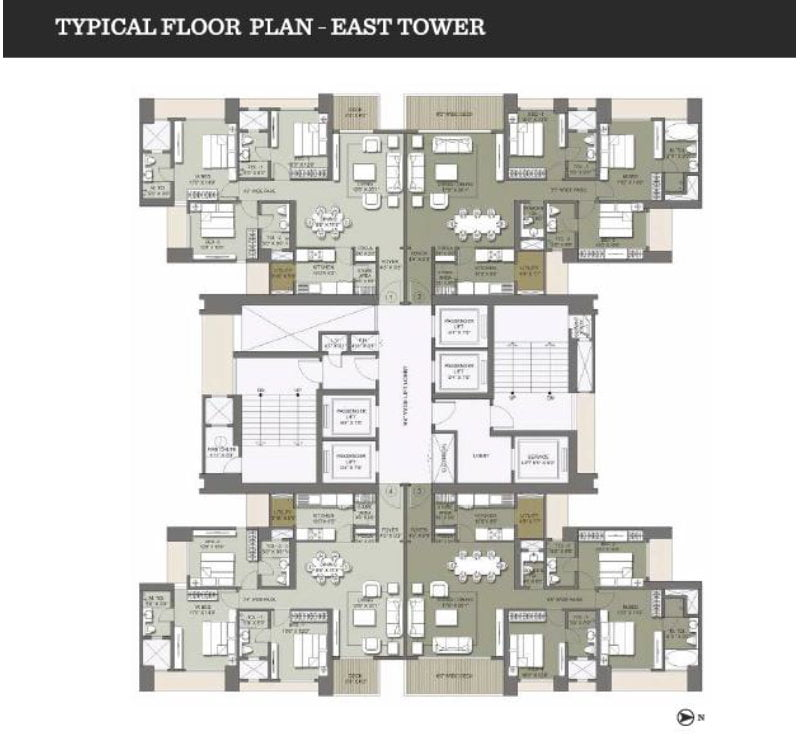 Lodha Codename Hidden Jewel 9958959555 East Tower Floor plan