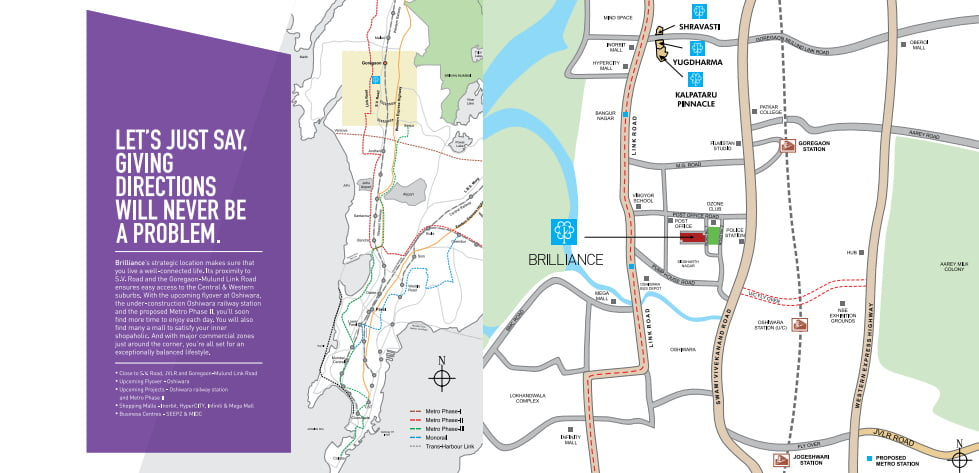 Launching Brilliance - Goregaon (W) by Kalpataru LOCATION MAP