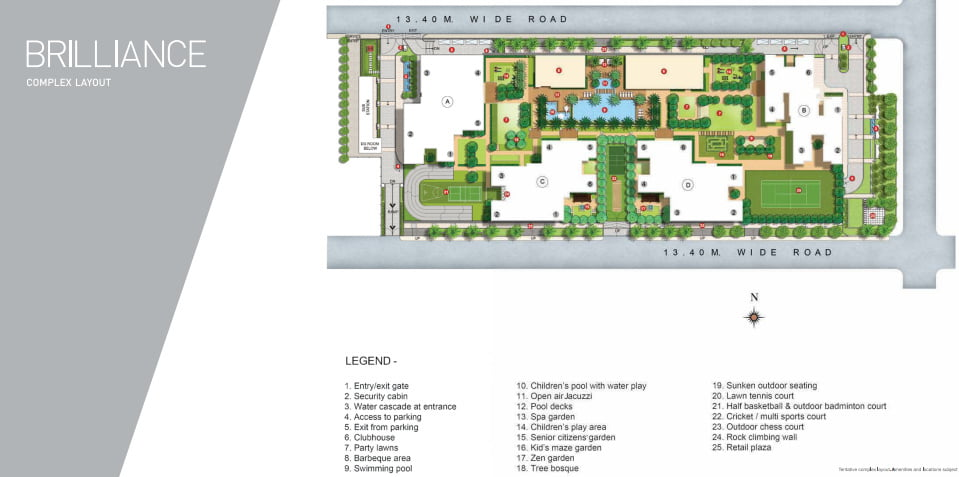 Launching Brilliance - Goregaon (W) by Kalpataru Site plan