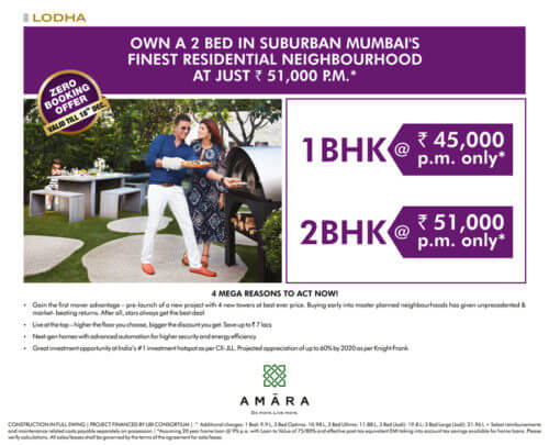 Zero Booking Offer @ Amara in Thane