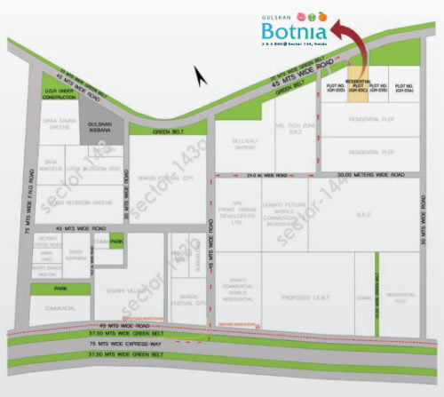 GULSHAN BOTNIASector 144 Noida call 9958959555 Site plan