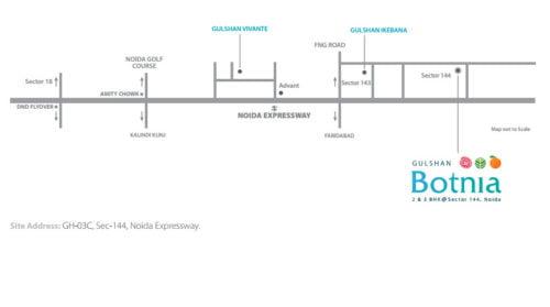 Location map GULSHAN BOTNIASector 144 Noida call 9958959555