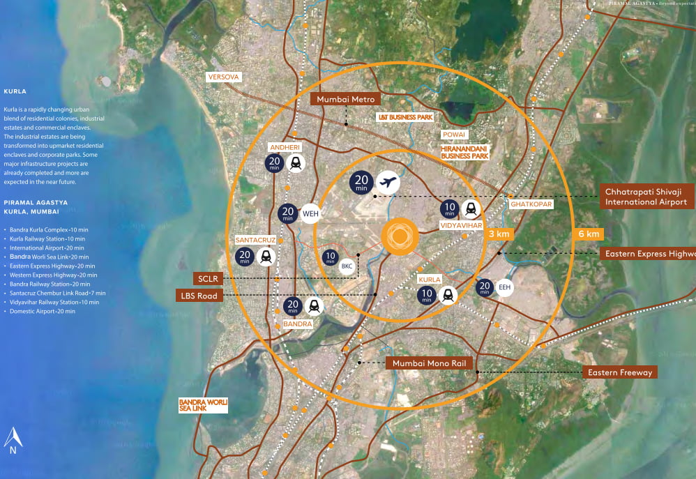 Piramal agastya kurla location map