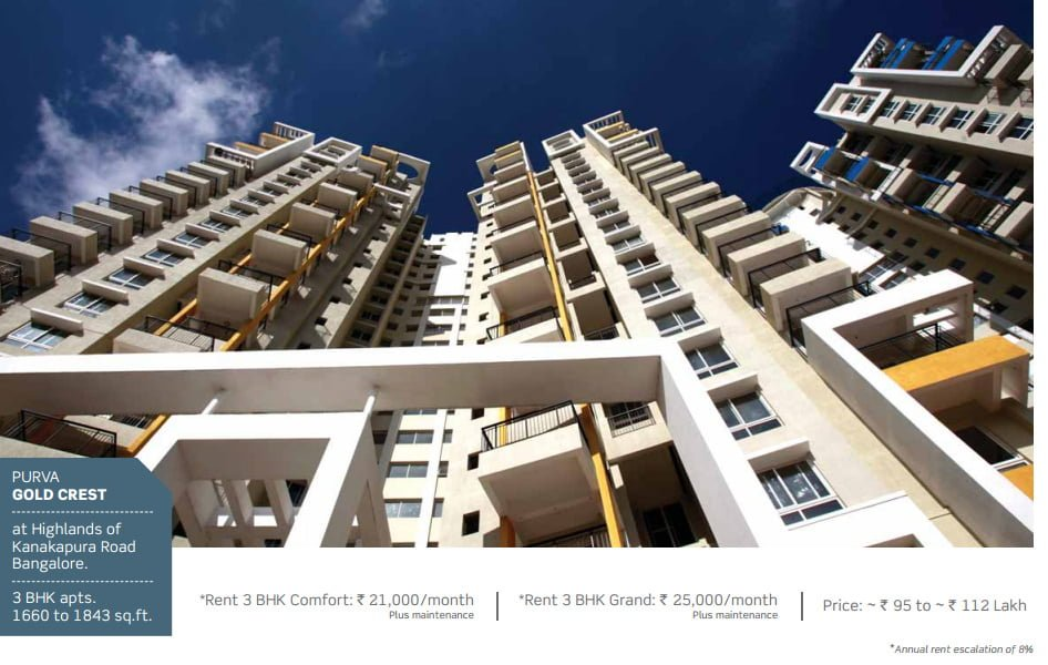 PURAVANKARA & PROVIDENT HOUSING OFFERS ASSURED RENTAL FOR 7 YEARS Gold Crest Banglore