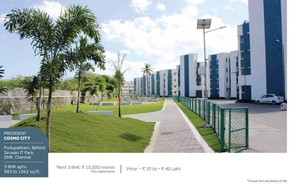 PURAVANKARA & PROVIDENT HOUSING OFFERS ASSURED RENTAL FOR 7 YEARS Provident Cosmos City Chennai