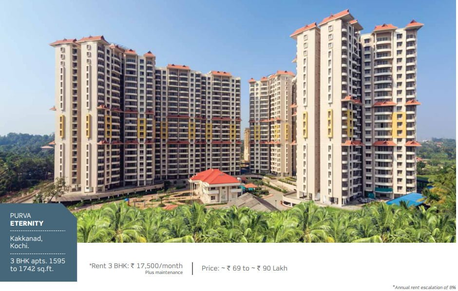 PURAVANKARA & PROVIDENT HOUSING OFFERS ASSURED RENTAL FOR 7 YEARS Purva Eternity Kochi