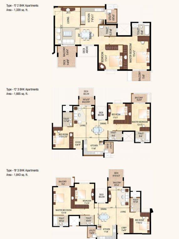 Purva Highland Kanakpur Road  Bangalore Floor Plan