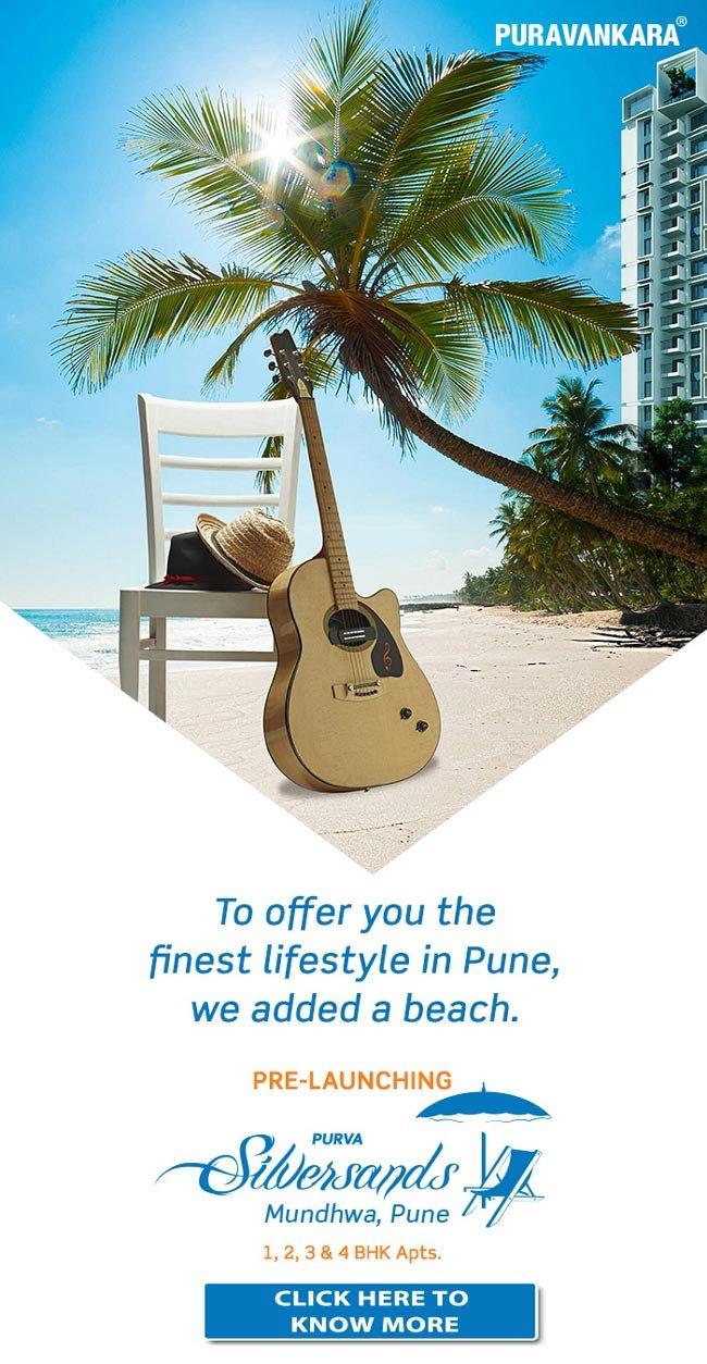 Puravankara Pre –launches beach front homes in Pune.