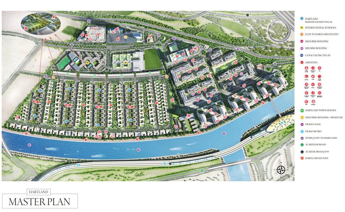 Dubai Sobha Hartland Mohammed Bin Rashid Al Maktoum city near Burj Khalifa
