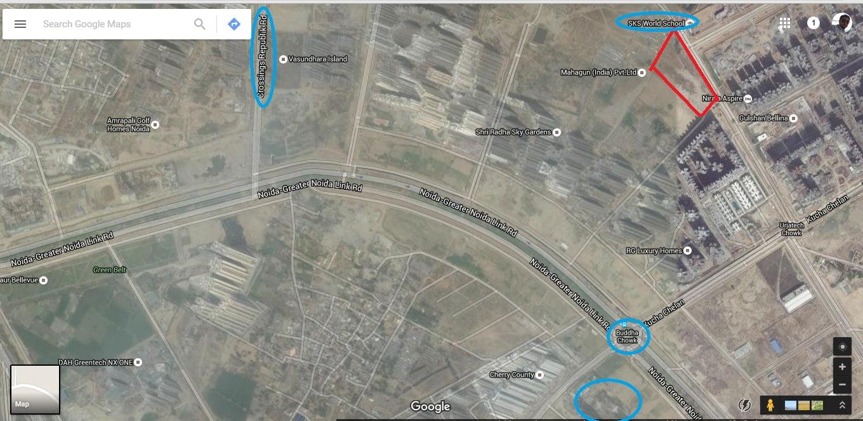 SKA Green Arch -Project Location- Google