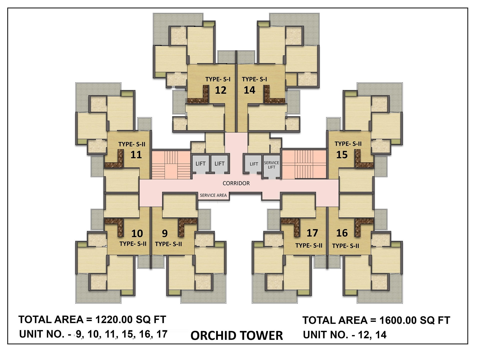 SKA Greenarch -Tower Orchid- Cluster View