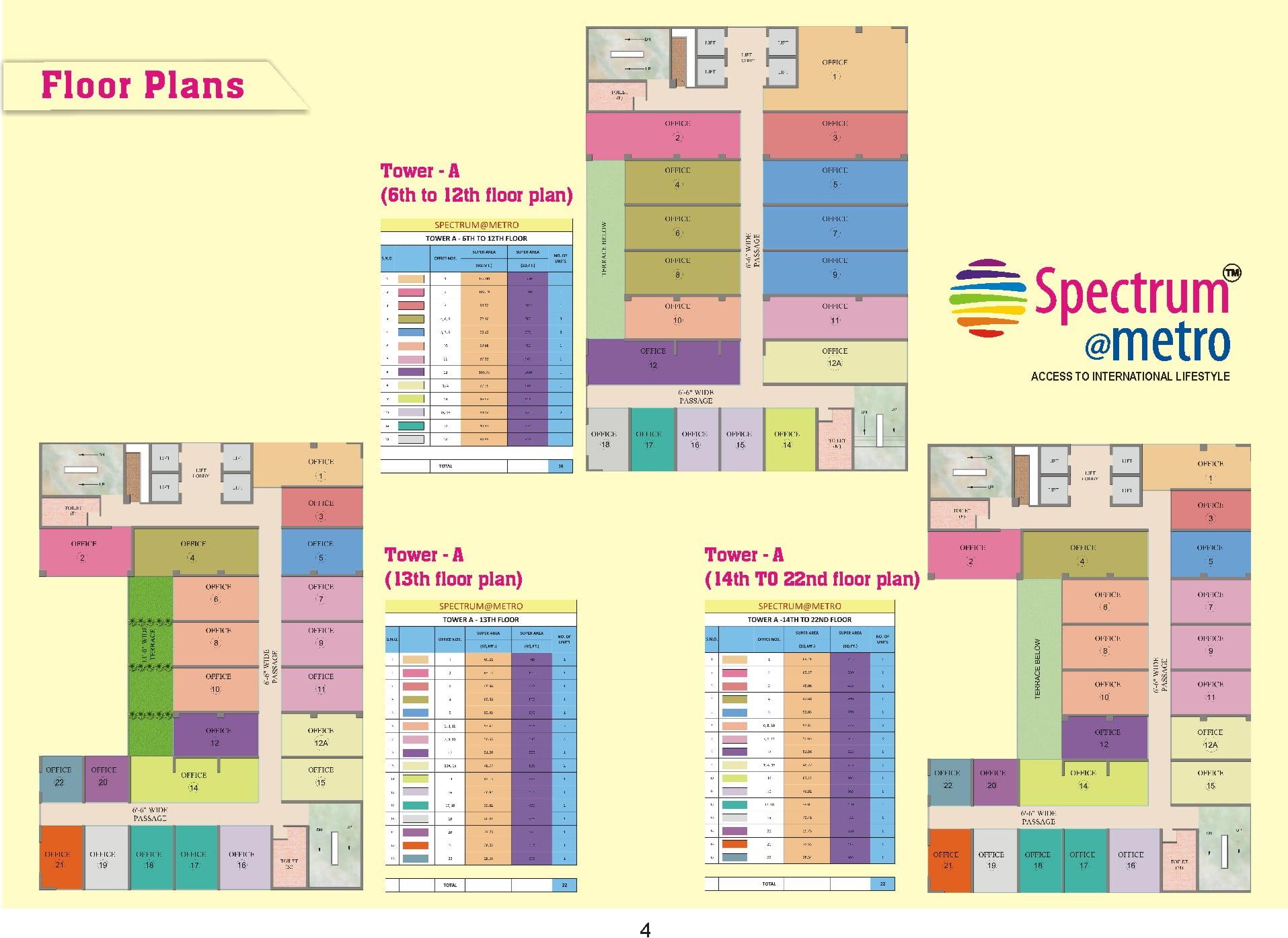 Spectrum- Office- Floor Plans