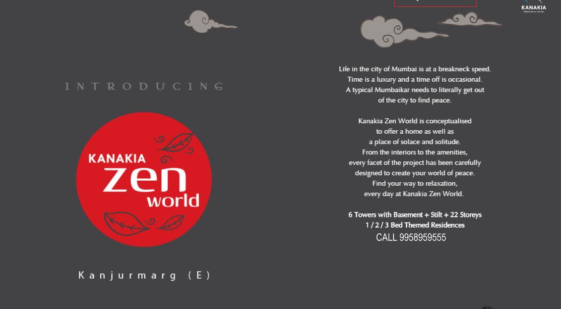 Kanakia Zen world Kanjurmarg East New Launch Project Mumbai call 9958959555