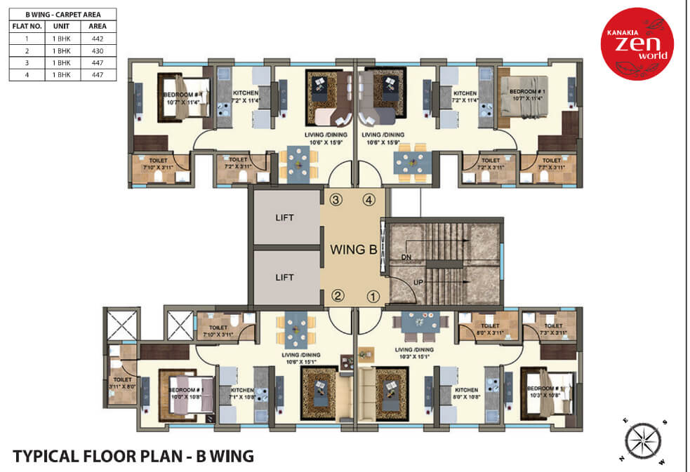 kanakia-zenworld-kanjurmarg-typical-floor-plan-b-wing