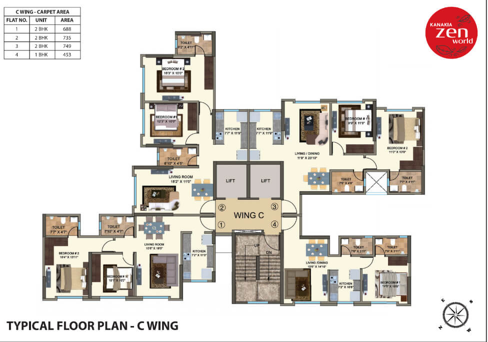 kanakia-zenworld-kanjurmarg-typical-floor-plan-c-wing