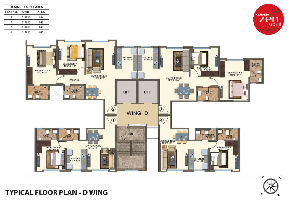 kanakia-zenworld-kanjurmarg-typical-floor-plan-d-wing