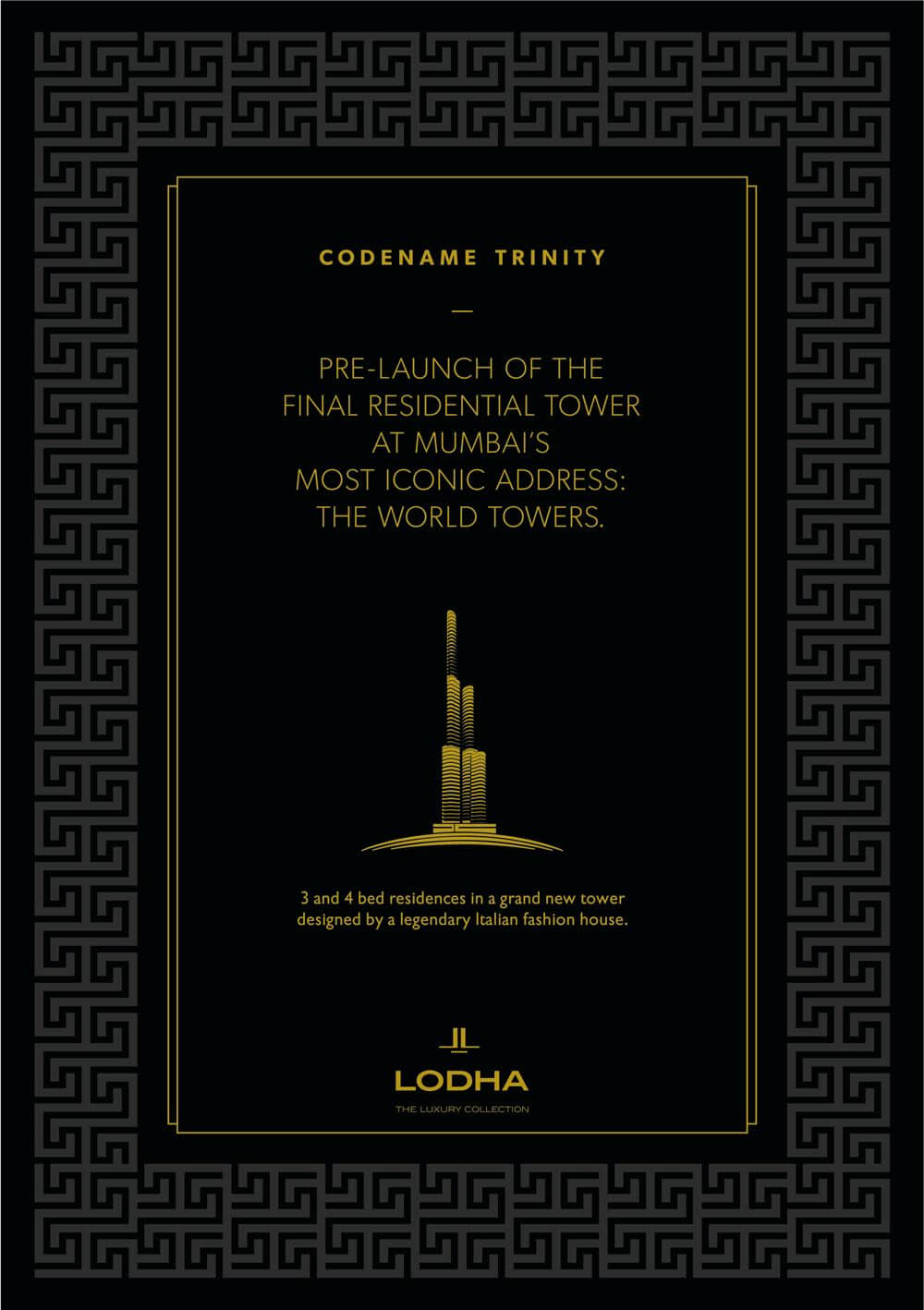 Pre-launch of the final residential tower at Mumbai's most iconic address: The World Towers