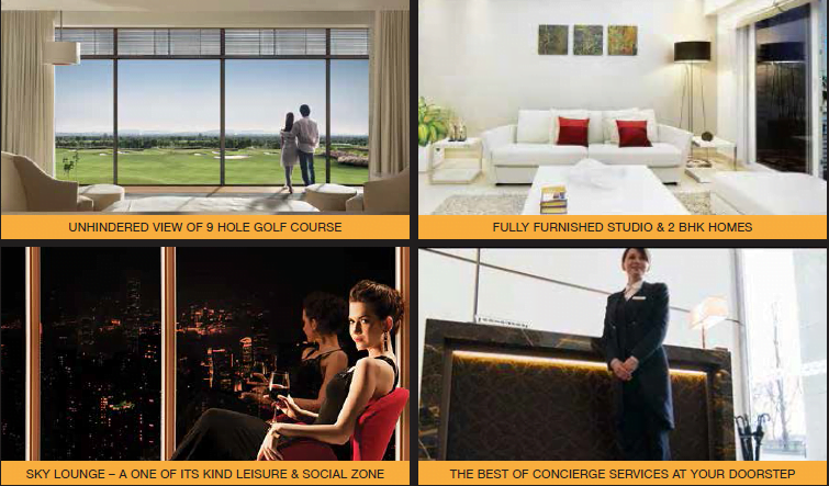 "Godrej Golf Links, ""The Suites"" with Fully Furnished Studio and 2 BHK Residences."