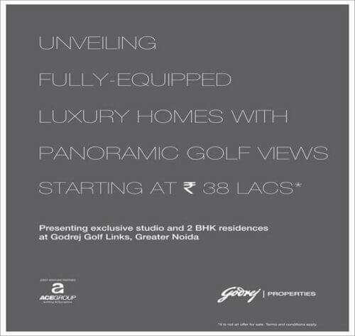 Godrej Golf Links - Studio & 2 BHKs