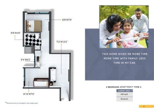 CRYSTAL, XRBIA TO DEVELOP AFFORDABLE HOMES IN CHEMBUR Crystal, Xrbia Chembur floor plan 2bhk-type-3