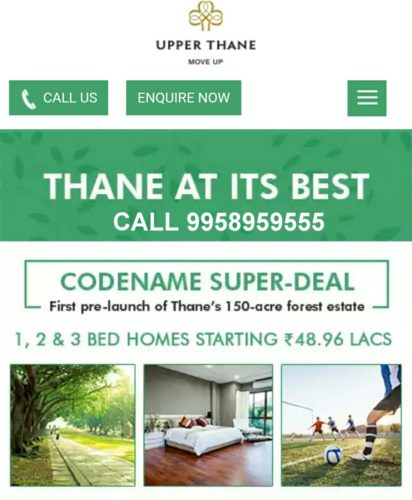 LODHA UPPER THANE CODENAME SUPER DEAL call 9958959555