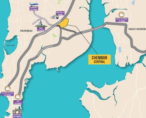 CRYSTAL, XRBIA TO DEVELOP AFFORDABLE HOMES IN CHEMBUR Crystal, Xrbia Chembur LOCATION MAP