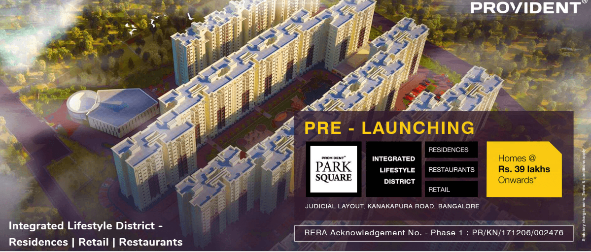 Provident Park Square in Bangalore call09958959555
