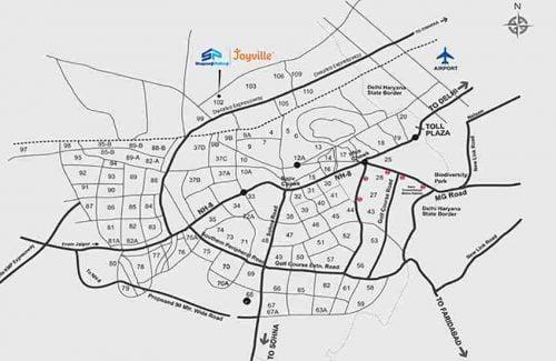 joyville-gurgaon-location-map Joyville