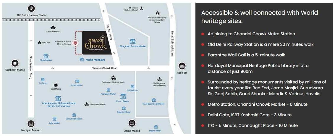 Omaxe Chandni chowk location map