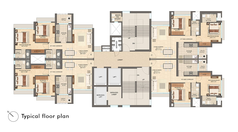 Floorplans Lodha Vista