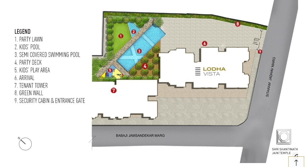Site plan Lodha Vista