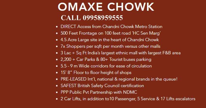Omaxe Chandni Chowk CAll 995.895.9555.