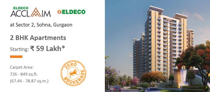 Eldeco Acclaim – 2 BHK Apartments Starting Rs. 59 Lakh* at Sohna, Gurgaon